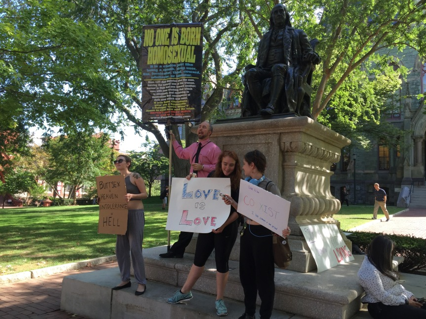 Protesters Berate Penn Students for Sinful Behavior