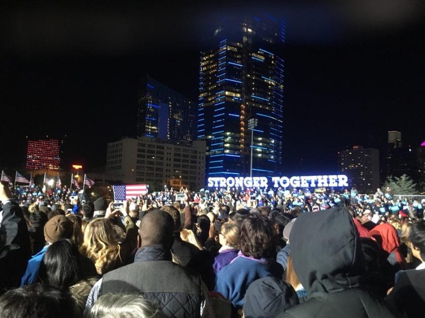 Clinton, Kaine Rally at PennPark