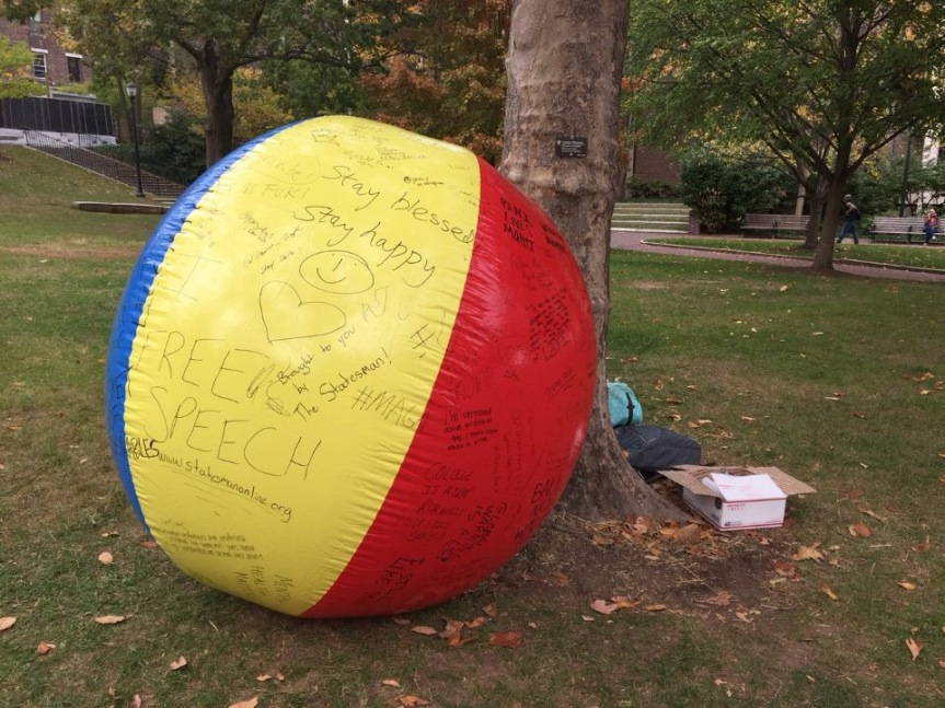 Free Speech Ball Takes Over College Green
